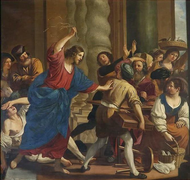 Cacciata dei mercanti dal tempio_Gercino