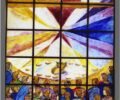 Vetrata nella chiesa di Nostra Signora di Loreto a Trapani