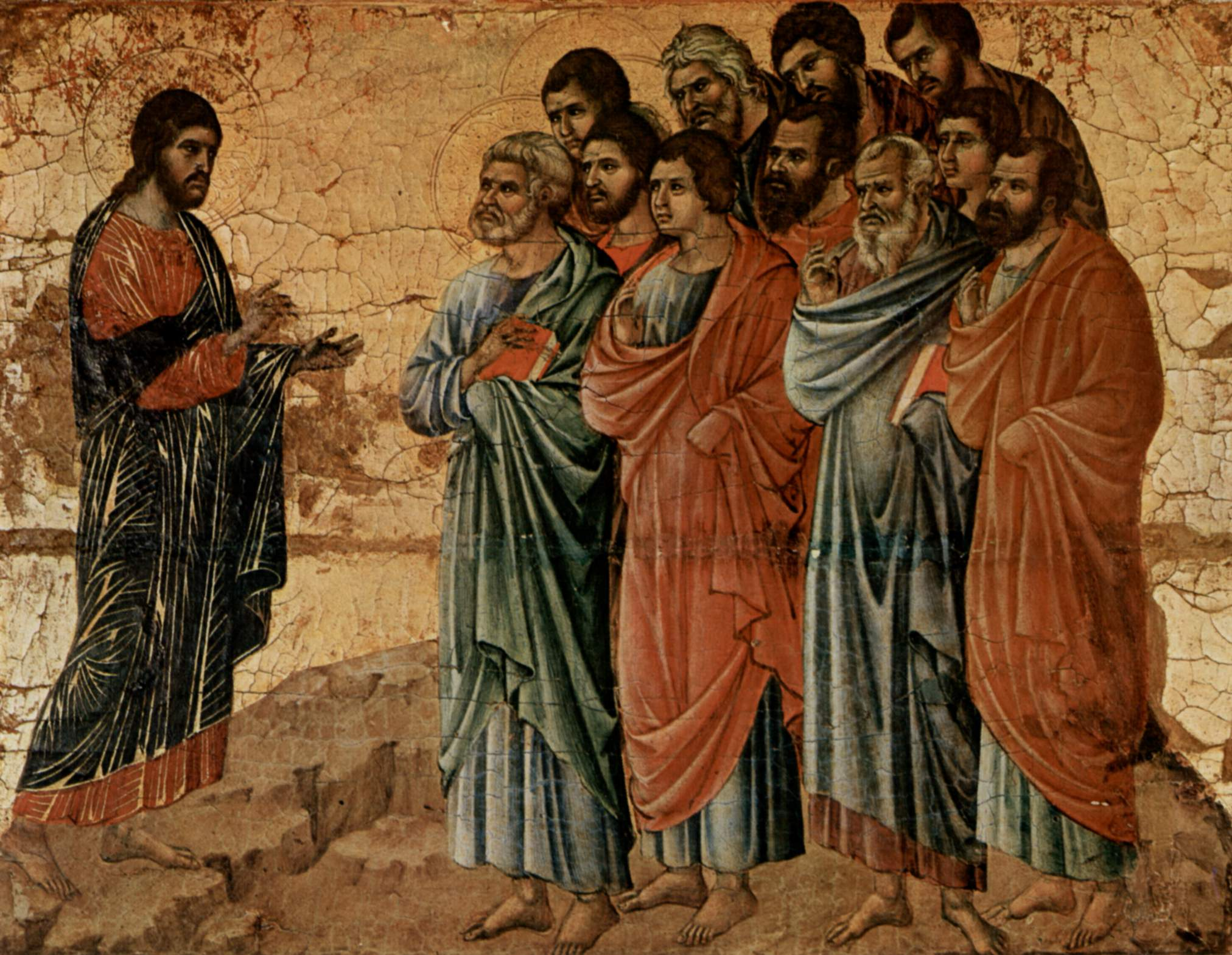 Duccio_di_Buoninsegna_Apparizione sul monte di Galilea