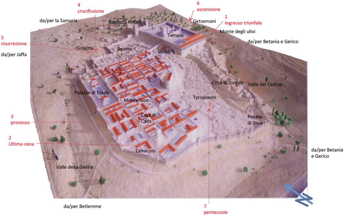 Cartina Gerusalemme